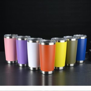 20oz Skinny Tumbler Stainless Steel Tumblers Vacuum Insulated Straight Cup Coffee Mug Water Bottle Wine Glass with Lid HHA1373-1