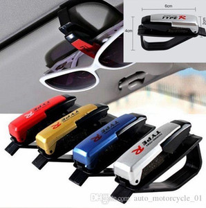 Parasoli di auto con occhiali da sole Card Ticket clip del supporto nero Accessorio vetro visiera di Sun da sole Card Ticket Holder BBA254