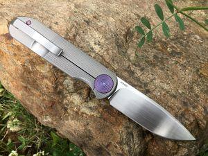 US LOCAL SHIPPING GARETH BULL SHAMWARI KNIVES FRONT FLIPPER M390 BLADE PURPLE ANODIZED 6AL-4V TITANIUM POVIT HANDLE TACTICAL KNIFE HAND TOOL