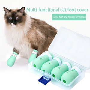 Adjustable Anti-biting Bath Washing Cat Claw Cover Cut Nails Foot Paw Cover Anti-Scratch Cat Shoes Boots Pets Hospital Treatment Protection