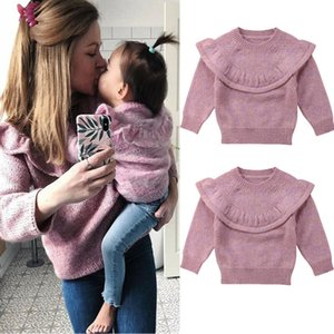 Autumn Winter Sweater Newborn Baby Girl Clothes Tops Ruffle Knitted Warm Sweater Coat Outerwear Clothes