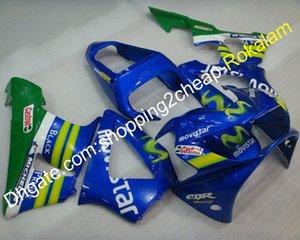 Cowlings Fit Para Honda CBR900RR 929 CBR 2000 2001 900RR CBR900 MOVISTAR carroçaria ABS carenagens Kit verde azul (moldagem por injeção)