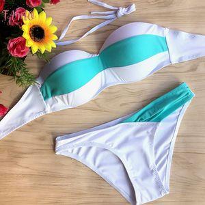 Women High Quality Summer Sexy Bikini Set Blue White Bikinis Strip Swimwear Low Waist Beach Swimsuit Push Up Bathing Suits