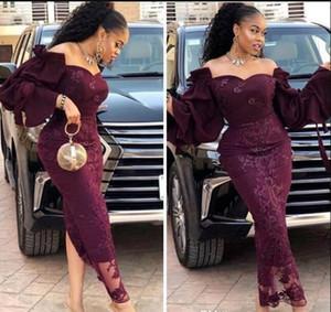 2019 Saudita stile vestito da sera Mermaid Dubai Aso Ebi promenade largo dei cerniera posteriore su ordine formali abiti da sera