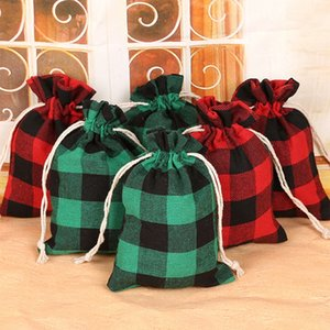 Weihnachtsgeschenk-Taschen Vintage natürliche Baumwolltragetasche Weihnachtszuckeraufbewahrungstasche für Kinder Hochzeit Beutel-Geschenk-Beutel EEA963-1