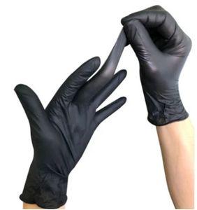 100шт Caveen нитриловые перчатки, одноразовые перчатки, Нет порошок, латекс, противоаллергический, Износоустойчиво