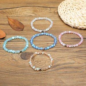 Nuevo Spectrolite Bling Stone Bead Bracelet Pink Blue Green Natural Stone Beads Yoga Balance Bracelet para mujeres niñas Buddha Jewelry