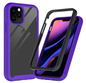 Mode PC-Telefon-Kästen für iphone 11 Pro Max 6 7 8 Transparent Stoß- Rugged Hybrid Acryl-Abdeckung für Samsung S10 note10