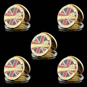 5adet Büyük Savaş D Day UK Havadan Normandiya İniş Pegasus 1oz Altın Kaplama Askeri meydan Coin