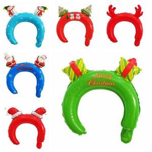 Regalos del partido de la decoración del árbol de calabaza cráneo de los aros del pelo de Halloween Navidad del globo de aluminio de la película Globos del favor del globo Headwear Puntales juguete AZYQ6248