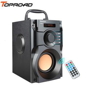 Estéreo TOPROAD grande de la energía del altavoz inalámbrico Bluetooth Altavoces Subwoofer bajos pesados Jugador de música Ayuda Pantalla LCD FM TF de radio T191128