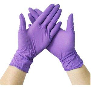 50 piezas de alta calidad del arte del tatuaje del cuerpo principal de limpieza a mano guantes impermeables desechables Protect elásticas Guantes de protección de seguridad de la cocina