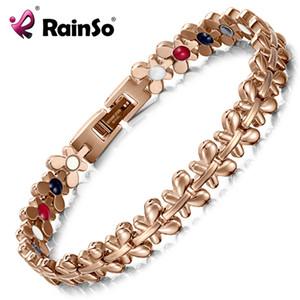 Rainso Santé Bracelet Magnétique Bijoux Femmes Haute Puissance Thérapie Germanium Bracelets Bracelets Drop-ship Hologramme Bracelet J190703