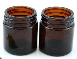 Barattolo di vetro da 100 grammi ambra chiaro vasetto per candele cosmetica da 100ml con crema cosmetica a scomparsa ampio barilotto a candela grande con coperchio in argento oro nero