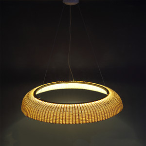 Bamboo Wicker Rotin Shade Pendant Luminaire Suspension Asiatique Suspension Nouveau