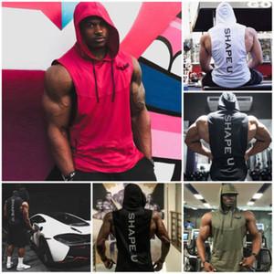 Kapüşonlular Erkekler Koşu Tank Top Erkekler Yelek Boks Spor Kolsuz Tişörtlü Boks Formalar Kas Eğitimi Yelek Man'S Tişört
