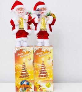 Noel Elektrik Müzik Noel Baba Doll Oyuncak Noel Plastik Bebekler Parti Noel lamba Mum Dekorasyon Hediye GGA2802 Malzemeleri