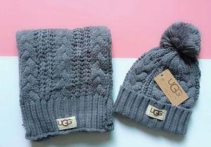 Conjuntos de bufanda de sombrero de diseñador de alta calidad para hombres y mujeres Accesorios de moda cálidos de lujo europeos de alta gama 8