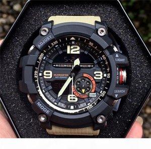 2020 venta caliente elegante reloj de los hombres del Ejército Militar impermeable de los deportes Relojes automático de luz LED de Moda Relojes de goma Hombre Reloj GG Style 1000 Relojes