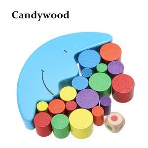 Candywood Holz Mond Gleichgewicht Spiel für Kinder Lernspielzeug für Kinder Holzspielzeug Balancing Blocks Baby Kinder Montessori