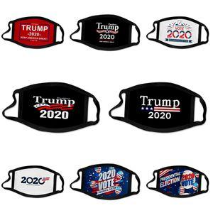 Máscaras Moda Unissex cara Cotton PM2.5 Boca Mask reutilizável Tecido Com 2 Filtros Zipper Designer Trump Máscara # 381