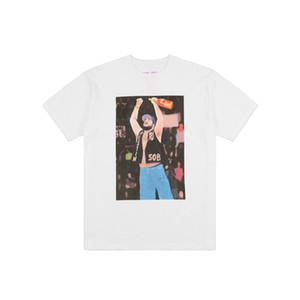 Vlone Camiseta Streetwear Vlone Rocky Homens Mulheres Hip Hop Camiseta Vlone Mens Black White T shirt Tees tamanho S-XL
