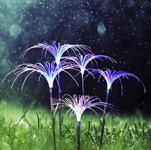 La fibra óptica LED al aire libre Reed Lámpara de la flor de luminiscencia y fuegos artificiales Mar Fuente de modelado del paisaje paisaje linterna lámpara enchufable LLFA