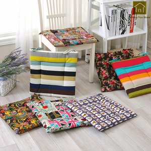 Dekorative Sitzkissen Baumwolle Stuhlkissen Hocker Outdoor Kissen Meditation Stuhlkissen Mit Krawatten Sofa Lounge Pad Lkx071 SH190814