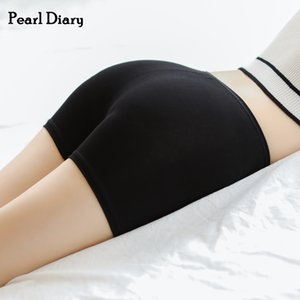 Pearl Diary Women Cotton Safety Pant Femme Plain Legging Short High Rise Elasticated Waistband Cooling Flat Seam Going Out Short