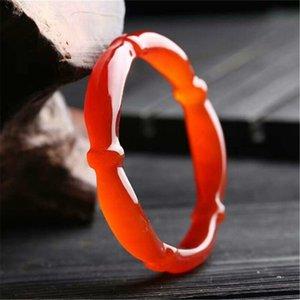 Натуральный красный агат браслет видов сына льда бамбук нефрит пробкового нефрит браслет