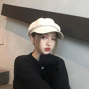 Yeni Varış Tasarımcı bayan kap lüks kadınlar için Bereliler Katı Monte şapka Dome Marka şapkalar ile caps ile 5 Renkler Yüksek kalite toptan