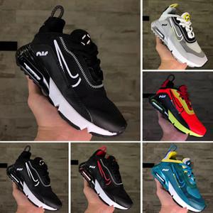 Nike Air Vapormax 2090 Los zapatos corrientes de 2020 New Kids 2090 para bebé 2090 zapatilla de deporte zapatilla de deporte las muchachas del muchacho Resumen Triple Negro Blanco
