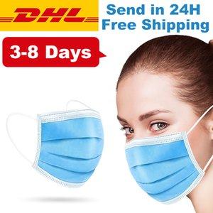 Einweg-Gesichtsmasken Thick 3-Schicht-Masken Einweg staubdicht atmungsaktiv Earloop Gesichtsmaske Comfortable Sanitary Mask schnellen freies Verschiffen