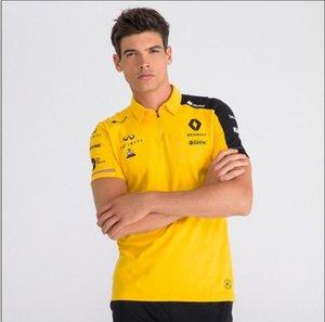 F1 Renault 2019 Renault 2019 polyester çabuk kuruyan kısa kollu polo gömlek yaka tişört takımı yarış takım elbise aynı özel