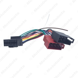 Rádio atacado Car CD / DVD Stereo ISO cablagem adaptador para Sony Para Peugeot Audio Video 2-Head Cable Speaker fio conector # 6003