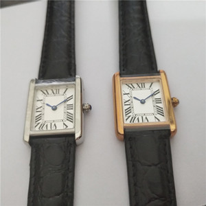 caso de ouro homem Hot Sale Mulheres moda relógio mostrador branco Quartz movimento de couro pulseira vestido relógio relógios 04/07