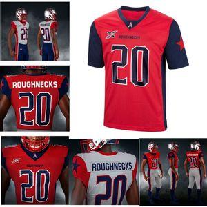 2020 Roughnecks XFL Football Jerseys Mens Charles James II Jersey Cody Brown Deatrick Nichols Gabe Wright Jeremiah Johnson Custom Stitched