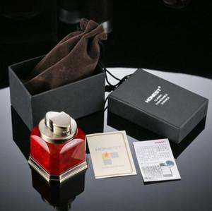 HONEST Desktop metal cigar lighter gas lighter four straight jet torch lighter (4 head) windproof welding Lighters with gift box