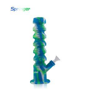Dab Rig Silikon Wasserpfeife Adjuatable Length Creative Design Mini unzerbrechliche Dab Rig für trockenes Kräuterwachs