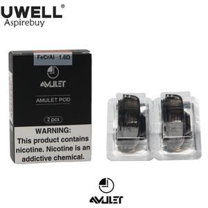 2 шт. / упак. UWELL Amulet Pod System 1.6 ohm 2 мл емкость многоразового стручка E-сигарета для Uwell Amulet Kit часы-стиль 100% оригинал