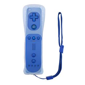 Jogo Motion Plus remoto controladores Nunchuck Wireless Gaming Nunchuk com Silicone Case Strap para Nintendo Wii Console