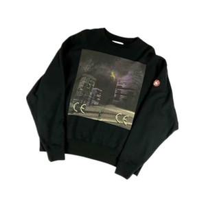 Cav Empt C.E Tokyo Nightscape Impresso Mulheres camisola Men Hoodie Hiphop Streetwear Homens moleton