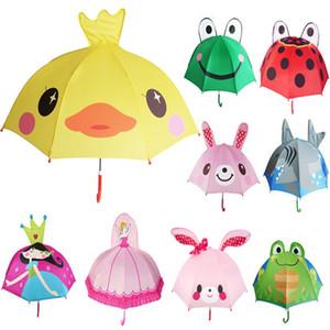 Diseño de dibujos animados encantador paraguas para niños de alta calidad 3D función opcional luz de paraguas para la lluvia Sun Home paraguas UX9-692