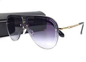 Neuer Luxus-Sonnenbrille-Mann-Entwurfs-Metallweinlese Sunglass Mode-Art-Quadrat-Metallrahmen Maxi-Sonnenbrillen UV 400-Objektiv mit Kasten