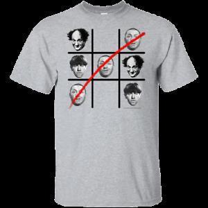 Les Trois Stooges Tic Tac Toe T-shirt