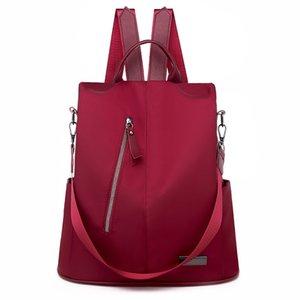 Diebstahlsicherung Große Kapazität Outdoor-Reiserucksack Weibliche Mode Wild Wear Resistant Umhängetasche Einfache Mehrzweck-Student Schultasche