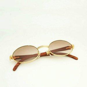 All'ingrosso-nero dell'annata degli occhiali da sole di legno Uomini di legno rotondo Occhiali Per Outdoor Sun Glasse accessori vetri liberi Telaio Oculos Occhiali Donne