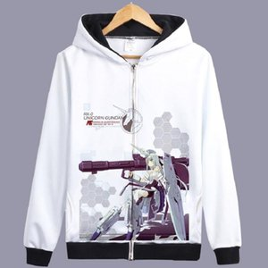 Unisex Anime GUNDAM Jacke Hoodie UC Mobile Suit Gundam Lässige Zipper mit Kapuze Hoodie Strickjacke