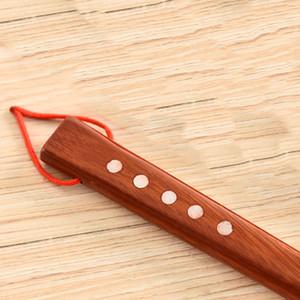 55cm Çubuk Asma Döngü kaldırıcı Dayanıklı Ev Uzun Sap Taşınabilir Pratik Esnek Ahşap Ayakkabı Horn Kırmızı Faydalı