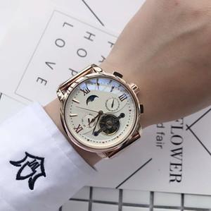 squelette haut montre mécanique automatique des hommes de la marque 42mm maître montres hommes tourbillon de montres de luxe sport en acier PP regarder de Montrésor lu
